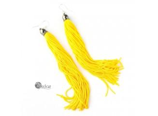 XLong - żółte kolczyki